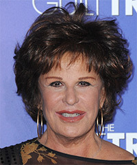 Lainie Kazan Short Straight Casual    Hairstyle with Layered Bangs  - Dark Brunette Hair Color