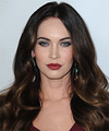 Megan Fox Long Wavy   Dark Brunette   Hairstyle