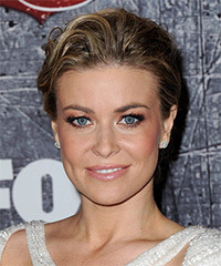 Carmen Electra  Long Straight Formal   Updo Hairstyle   - Dark Blonde Hair Color with Light Blonde Highlights