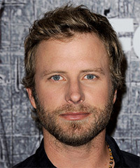 Dierks Bentley Short Straight Casual    Hairstyle   - Dark Blonde Hair Color with  Blonde Highlights