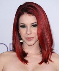Jillian Rose Reed Medium Straight Casual  Emo  Hairstyle   -  Red Hair Color