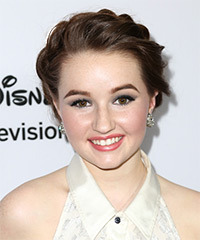 Kaitlyn Dever  Long Curly Formal   Updo Hairstyle   - Dark Brunette Hair Color