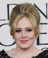 Adele  Long Straight    Blonde  Updo    with Light Blonde Highlights