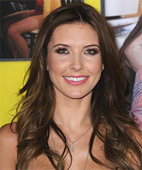 Audrina Patridge Long Straight Casual    Hairstyle   - Dark Chocolate Brunette Hair Color