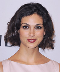 Morena Baccarin Short Wavy Casual    Hairstyle   - Dark Mocha Brunette Hair Color