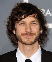 Gotye Long Wavy Casual    Hairstyle with Side Swept Bangs  - Dark Chocolate Brunette Hair Color