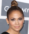 Jennifer Lopez  Long Straight    Caramel Brunette  Updo