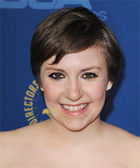 Lena Dunham Short Straight Casual    Hairstyle   - Dark Brunette Hair Color