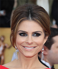 Maria Menounos  Long Straight Formal   Updo Hairstyle   -  Brunette Hair Color