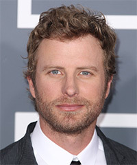 Dierks Bentley Short Curly Casual    Hairstyle   - Dark Strawberry Blonde Hair Color