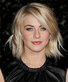Julianne Hough Medium Straight    Golden Blonde   Hairstyle   with Light Blonde Highlights
