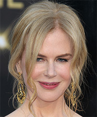 Nicole Kidman  Long Curly Formal   Updo Hairstyle   - Light Strawberry Blonde Hair Color with Light Blonde Highlights