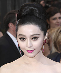 Fan Bingbing  Long Straight Formal   Updo Hairstyle   - Black  Hair Color