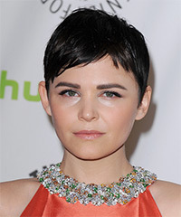 Ginnifer Goodwin Short Straight Casual  Pixie  Hairstyle   - Mocha Hair Color