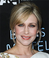 Vera Farmiga  Long Straight Formal   Updo Hairstyle   -  Ash Blonde Hair Color with Light Blonde Highlights