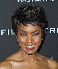 Angela Bassett Short Straight Casual    Hairstyle   - Black  Hair Color