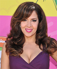 Maria Canals Berrera Long Wavy Formal    Hairstyle   - Dark Brunette Hair Color