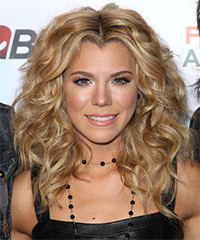 Kimberly Perry Medium Curly Formal    Hairstyle   - Dark Golden Blonde Hair Color with Light Blonde Highlights