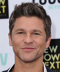 David Burtka Short Straight Casual    Hairstyle   -  Brunette Hair Color with Dark Brunette Highlights