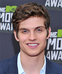 Daniel Sharman Short Wavy Casual    Hairstyle   -  Brunette Hair Color with Dark Blonde Highlights
