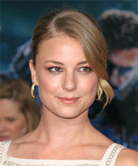 Emily VanCamp  Long Straight Formal   Updo Hairstyle   -  Blonde Hair Color