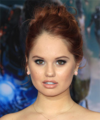 Debby Ryan  Long Curly Formal   Updo Hairstyle   -  Red Hair Color