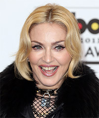 Madonna  Long Straight Formal   Updo Hairstyle