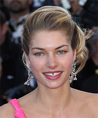 Jessica Hart  Long Curly Formal   Updo Hairstyle