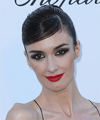 Paz Vega  Long Straight Formal   Updo Hairstyle