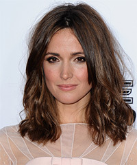 Rose Byrne Medium Wavy Casual    Hairstyle   -  Brunette Hair Color