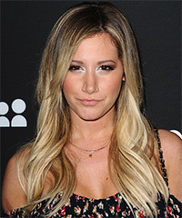 Ashley Tisdale Long Straight Casual    Hairstyle   - Dark Blonde Hair Color with Light Blonde Highlights