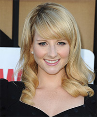 Melissa Rauch Long Wavy Formal    Hairstyle