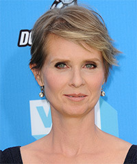 Cynthia Nixon Short Straight Casual    Hairstyle