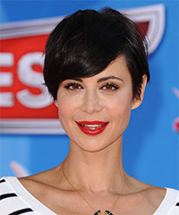 Catherine Bell Short Straight Casual    Hairstyle   - Black  Hair Color