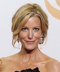 Anna Gunn  Long Curly Formal   Updo Hairstyle