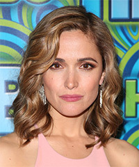 Rose Byrne Medium Wavy Formal    Hairstyle   - Light Caramel Brunette Hair Color
