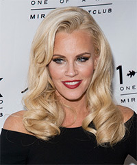 Jenny McCarthy Long Wavy Formal    Hairstyle   - Light Blonde Hair Color