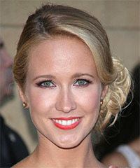 Anna Camp  Long Curly Formal   Updo Hairstyle