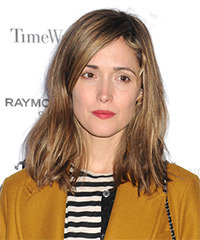 Rose Byrne Medium Straight Casual    Hairstyle   -  Chestnut Brunette Hair Color