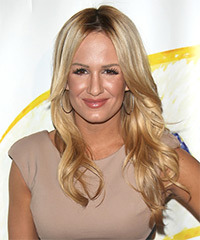 Jenn Brown Long Straight Formal    Hairstyle   - Light Honey Blonde Hair Color