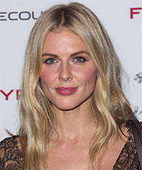 Donna Air Long Straight Casual    Hairstyle   -  Champagne Blonde Hair Color with Light Blonde Highlights