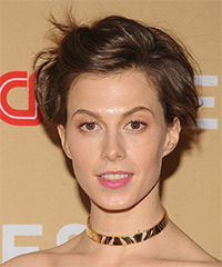 Elettra Wiedemann Short Straight Casual    Hairstyle   -  Chestnut Brunette Hair Color