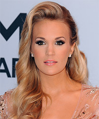 Carrie Underwood Long Wavy Formal    Hairstyle   -  Honey Blonde Hair Color with Light Blonde Highlights