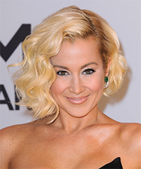 Kellie Pickler Short Wavy Formal  Bob  Hairstyle   - Light Golden Blonde Hair Color