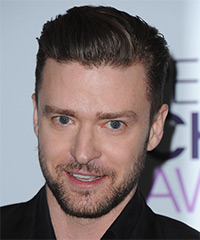 Justin Timberlake Short Straight Formal    Hairstyle   - Dark Ash Brunette Hair Color