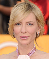 Cate Blanchett  Long Straight Casual   Updo Hairstyle   - Light Golden Blonde Hair Color