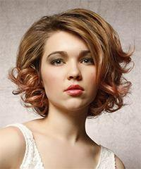 Short Curly Formal    Hairstyle   -  Strawberry Brunette Hair Color