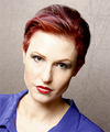 Short Straight Casual    Hairstyle   -  Red Hair Color