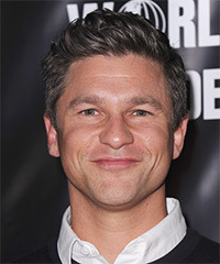 David Burtka Short Straight Casual    Hairstyle   - Dark Grey Hair Color