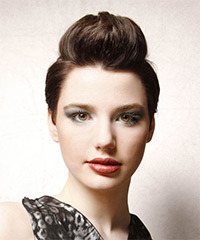 Short Straight Alternative    Hairstyle   - Mocha Hair Color